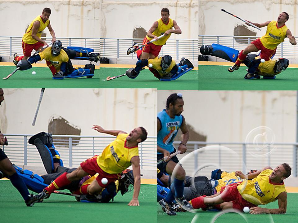 lesión de rodilla en el hockey. Fuente: Blog fisiohockey.blogspot.com.es