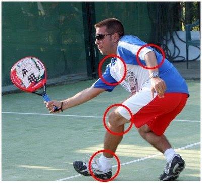 lesión de rodilla en padel. Fuente: padelstar.es